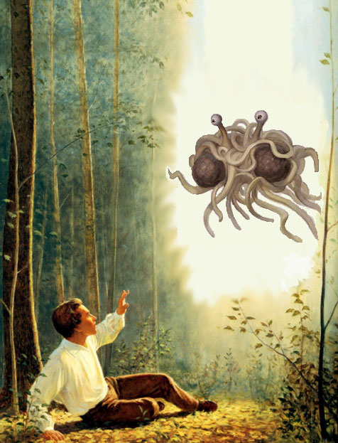 Joseph Smith sees the Flying Spaghetti Monster